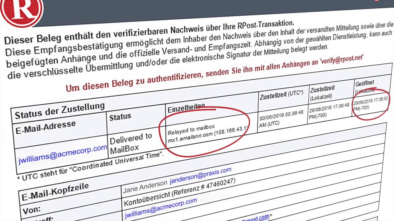 Frama Rmail Zustellungsnachweis