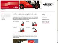Website von Vesta Fördertechnik
