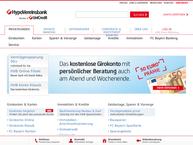 Website von Hypo-Bank AG Fil.