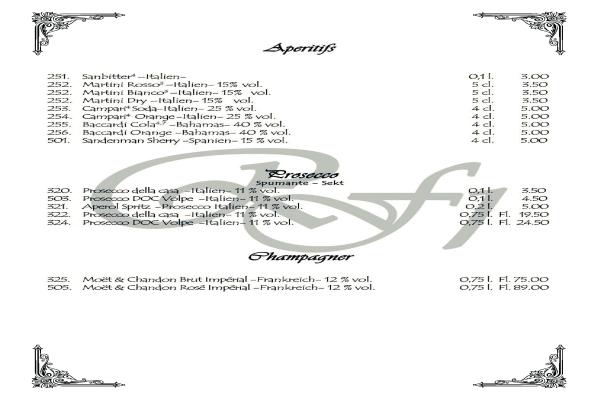 Speisekarte PDF