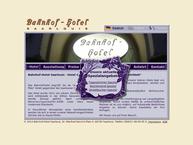 Website von Bahnhof-Hotel Saarlouis