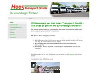 Website von Hees Transport GmbH Transporte U. Spedition