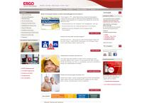 Website von ERGO Versicherung, Renate Aubel