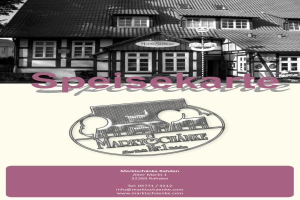 Marktschänke, Gaststätten, Restaurants in Rahden - Öffnungszeiten