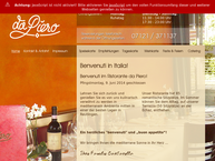 Website von Da Piero Ristorante