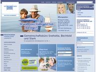 Website von Versicherungsagentur Snehotta