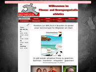 Website von Athletics Fitness- u. Bewegungszentrum