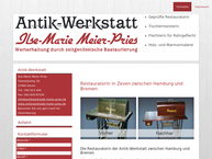 Website von Antik-Werkstatt Ilse-Marie Meier-Pries