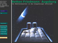 Website von Betten-Friedmann Matratzen . Bettwäsche Daunendecken . Reinigung