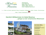 Website von Hotel Garni Bisenius