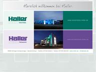 Website von Haller Stahlbau