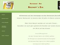 Website von Gaststätte Bischoffs-Eck