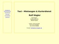 Website von Taxi - Mietwagen & Kurierdienst Kögler