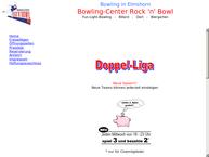 Website von Bowlingbahn Rock'n and Bowl