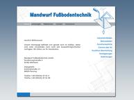 Website von Mandwurf GmbH Estriche Ind.böden