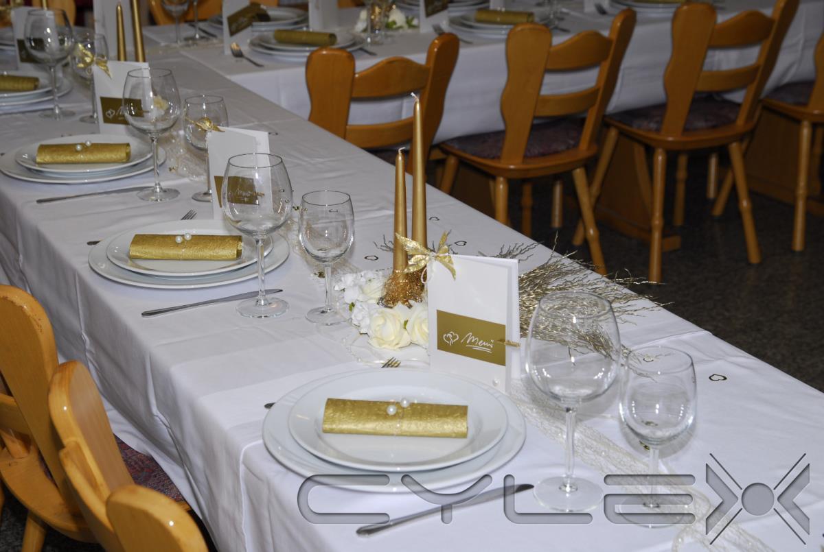 Sportlersch nke gastst tten restaurants in schaafheim for Goldene hochzeit tischdeko
