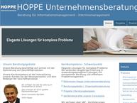 Website von HOPPE Unternehmensberatung