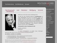 Website von Rechtsanwalt - Mediator - Coach  Wolfgang Schmid