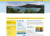 Website von WÖRTHERSEE TOURISMUS GMBH