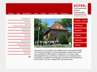 Website von Küter. Rechtsanwälte, Notare, Fachanwälte