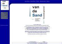 Website von Van de Sand Veranstaltungstechnik