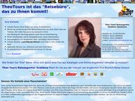 Website von Theotours Reiseagentur Svetlana