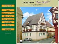 Website von Gasthof Zum Schiff