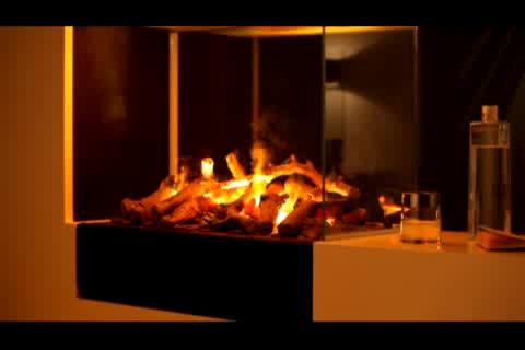 Elektrokamin mit 3D-Feuer und Rauch - Neuheit