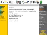 Website von Schubert GmbH