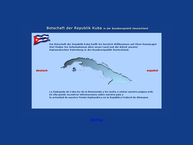 Website von Botschaft der Republik Kuba in Berlin