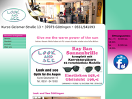 Website von Look And See  Augenoptik