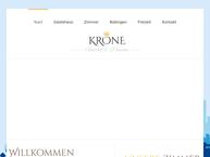 Website von Gasthof Krone