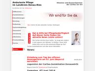Website von Caritas Sozialstation Ambulante Krankenpflege Donauwörth e. V.