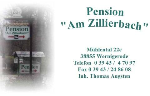 Pension am zillierbach in wernigerode for Pension wernigerode