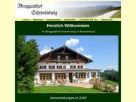 Website von Berggasthof Schweinsteig