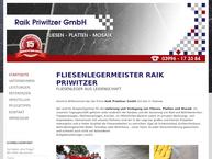Website von Priwitzer GmbH Fliesenlegermeister