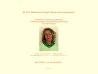 Website von Marie Luise Langenbach