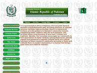 Website von Consulate General Of Pakistan