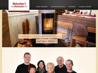 Website von Rebscher's Ofenladen Öfen , Rebscher Energie