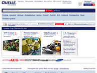 Website von Quelle Shop Olfermann