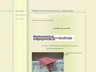 Website von Metallverarbeitung Schweißerei Wolfgang Krausse