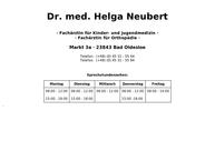 Website von Dr. med. Helga Neubert