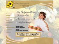 Website von Hochzeitsambiente Sunflower
