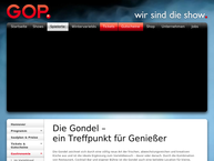 Website von Gondel – Restaurant & Bar