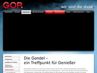Website von Restaurant Gondel