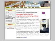 Website von City-Übernachtung Stuttgart-West