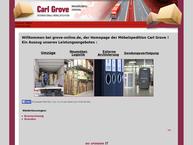 Website von Grove Spedition GmbH