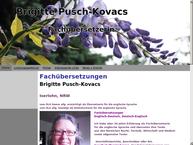 Website von Pusch-Kovacs Brigitte Übersetzerin