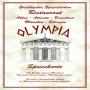 Olympia - Speisekarte