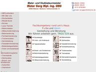 Website von Maler- und Stukkateurmeister Dip. Ing. Dieter Sorg